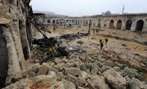 Emevi Camii'nin son hali yürekleri yaktı!