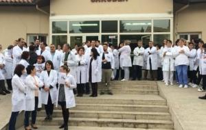 Sağlık İşçilerinin Protestosu Başladı
